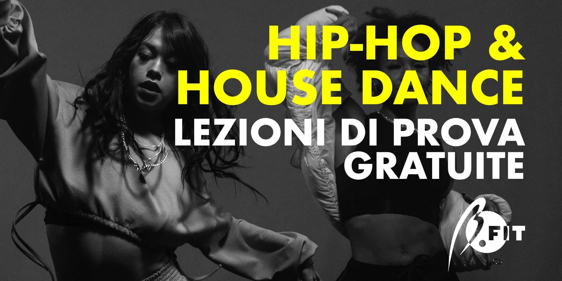 Banner corsi di hip hop & house dance - prove gratuite