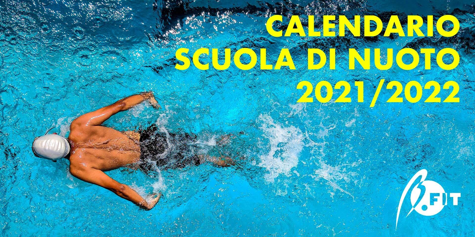 Banner calendario scuola di nuoto 2021