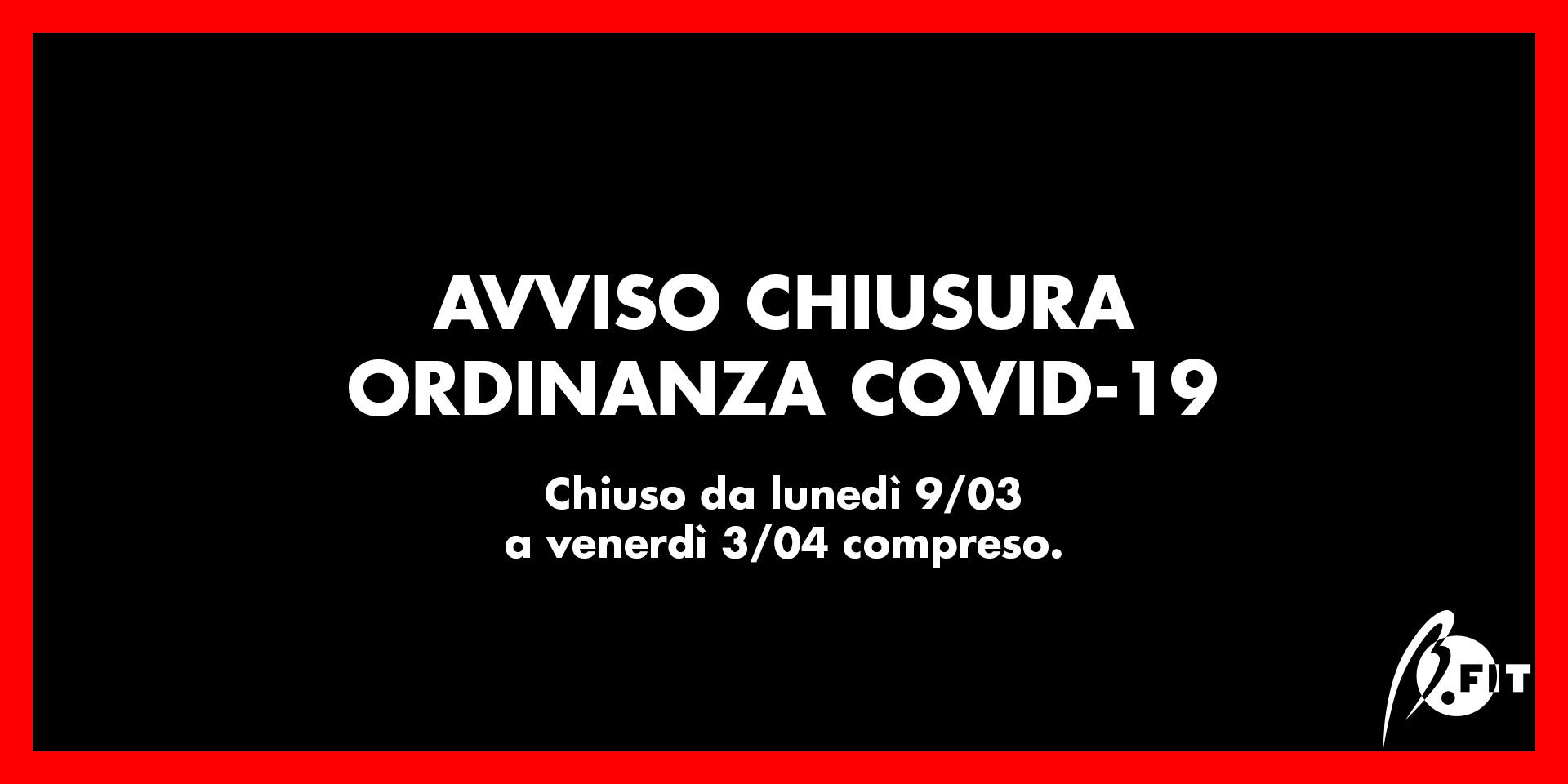 Banner chiusura centro sportivo per covid-19