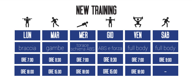 Calendario corsi New Training