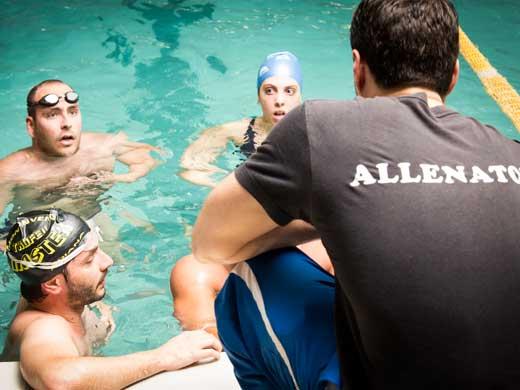 Fotografie allenamento Klab Master presso la piscina di Klab Marignolle a Firenze