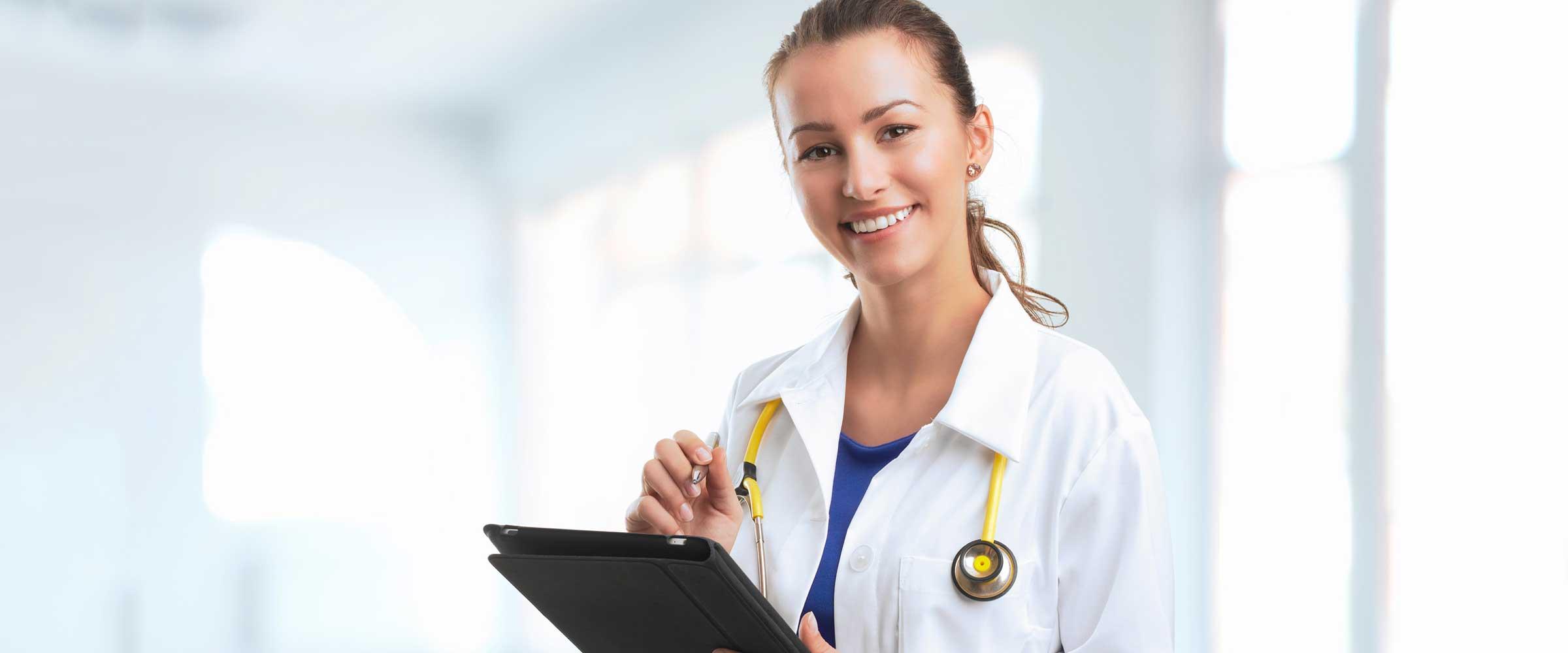 Banner certificato medico con ecg